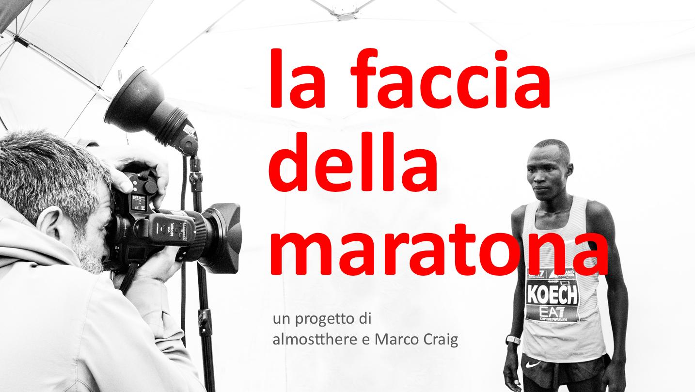 la faccia della maratona